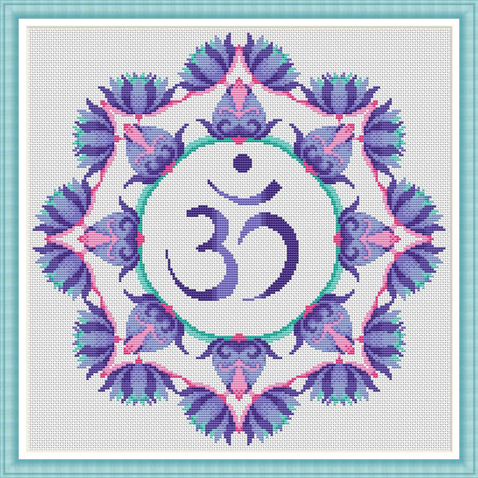 Free Om Mandala Cross Stitch Chart