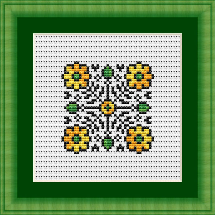 March Mandala Free Cross Stitch Chart