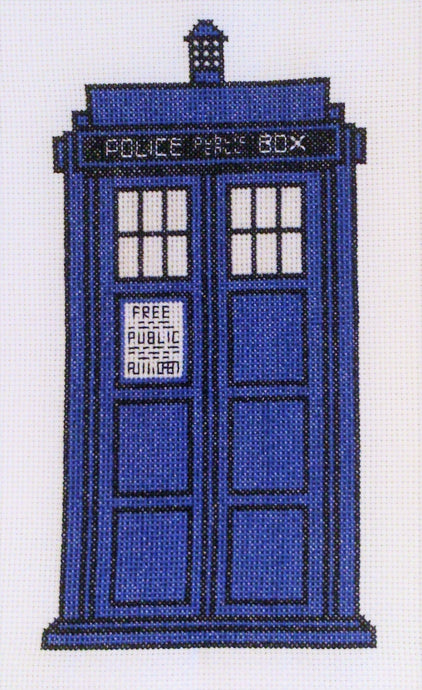 Free TARDIS Cross Stitch Chart