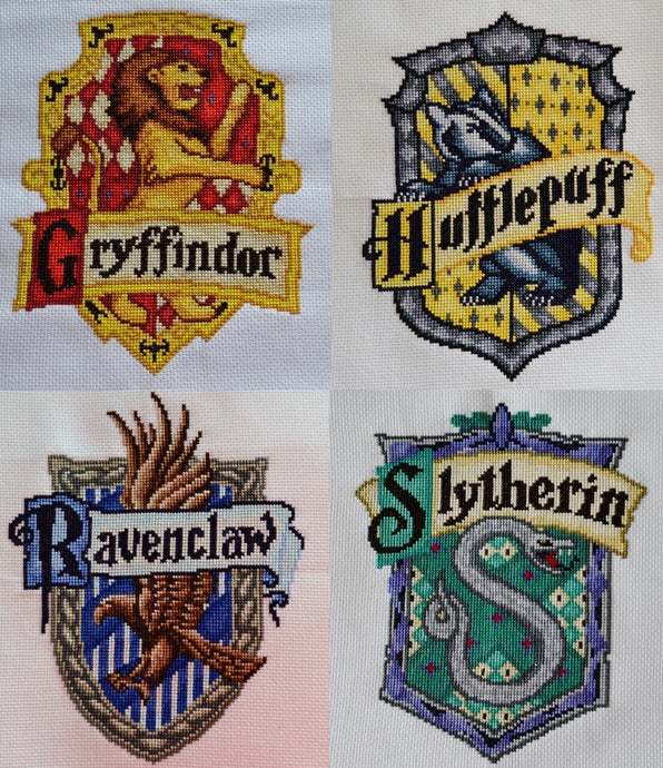 Free Harry Potter House Crest Cross Stitch Charts