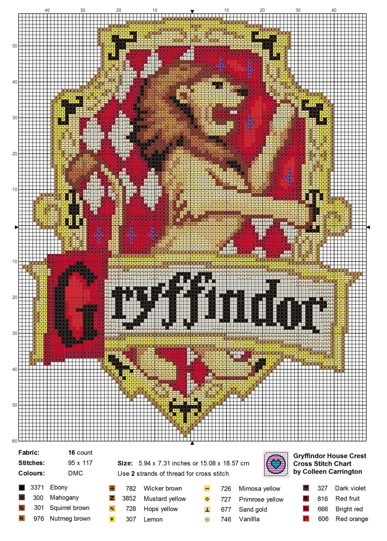 Free Harry Potter House Crest Cross Stitch Charts The World In Stitches