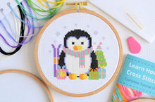 Load image into Gallery viewer, Cross Stitch for Beginners Penguin