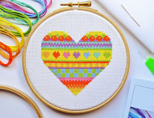 Cross Stitch for Beginners Heart