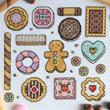 Load image into Gallery viewer, Cookies Sampler Cross Stitch Kit