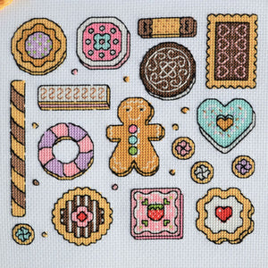 Cookies Sampler Cross Stitch Kit