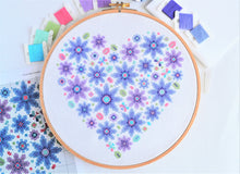 Load image into Gallery viewer, PDF Pattern for Floral Heart Sampler