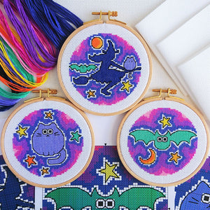 Halloween Trio Cross Stitch Kit