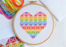 Load image into Gallery viewer, PDF Pattern for Geometric Heart