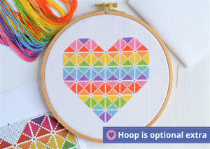 Geometric Heart Cross Stitch Kit