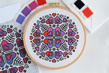 Load image into Gallery viewer, PDF Pattern for Heart Mandala