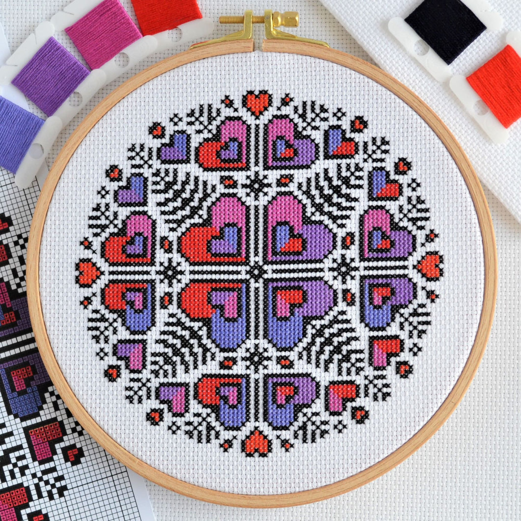 PDF Pattern for Heart Mandala