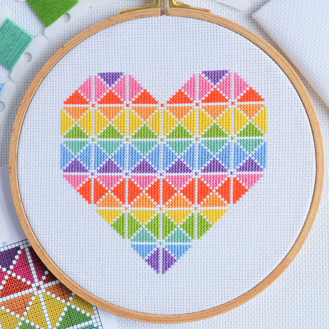 PDF Pattern for Geometric Heart