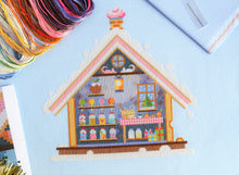 Load image into Gallery viewer, Gingerbread House Cross Stitch Kit