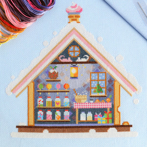 Gingerbread House Cross Stitch Kit