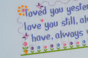 Loved You Yesterday Cross Stitch Kit