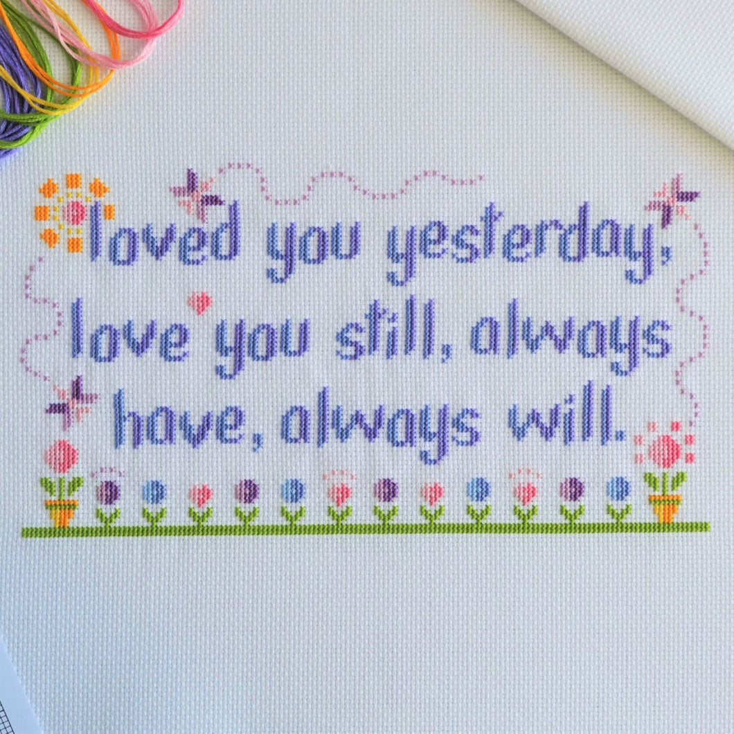 PDF Pattern for Loved You Yesterday