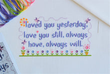 Load image into Gallery viewer, Loved You Yesterday Cross Stitch Kit