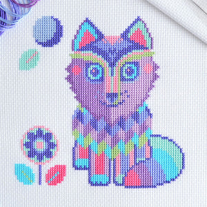 Maya the Wolf Cross Stitch Kit