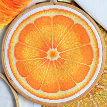 Load image into Gallery viewer, Orange Half Cross Stitch Kit