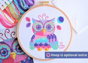 Florence the Owl Cross Stitch Kit
