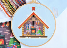 Load image into Gallery viewer, PDF Pattern for Santa's Cosy Cabin