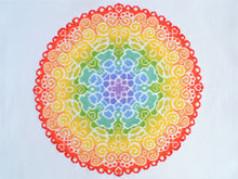 Load image into Gallery viewer, Spectrum Mandala Cross Stitch Kit