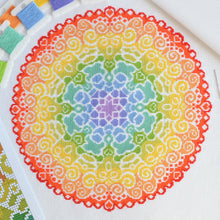 Load image into Gallery viewer, PDF Pattern for Spectrum Mandala