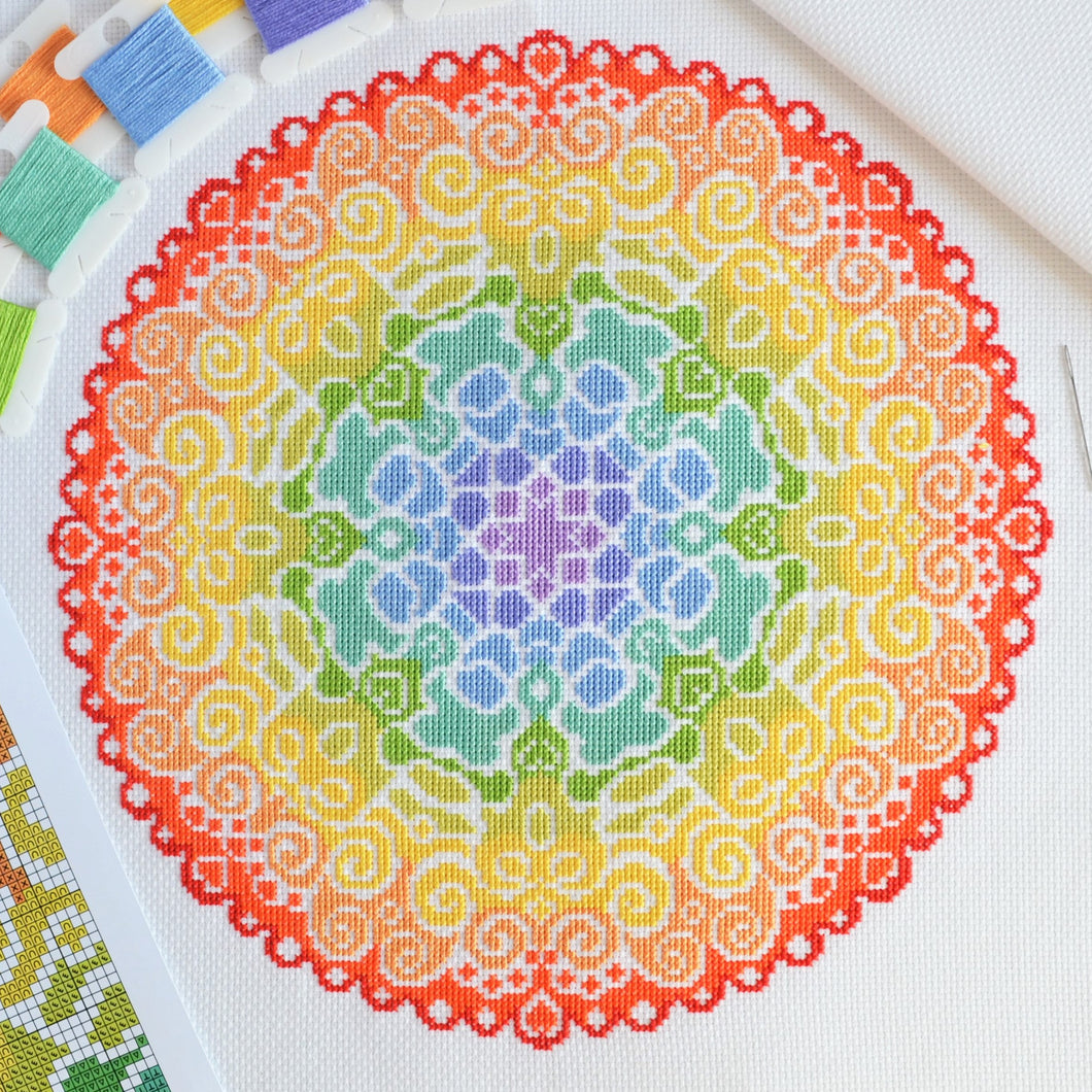 PDF Pattern for Spectrum Mandala