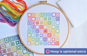 Geometric Squares Cross Stitch Kit
