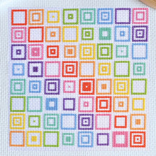Load image into Gallery viewer, Geometric Squares Cross Stitch Kit