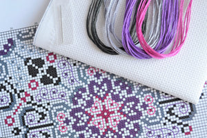 Vibrant Lace Heart Cross Stitch Kit