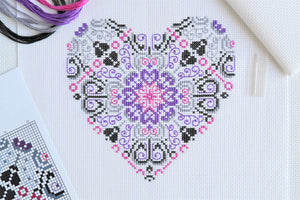 PDF Pattern for Vibrant Lace Heart