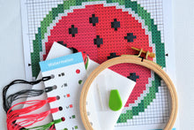 Load image into Gallery viewer, Cross Stitch for Beginners Watermelon