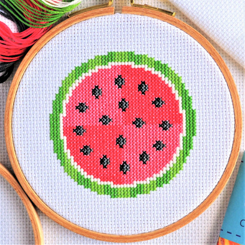 Cross Stitch for Beginners Watermelon