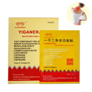 YIGANERJING Pain Relief Patch Plaster Joints Strains Bruises Sprains Muscle Pain Backache Arthritis 10 Pieces in One Set