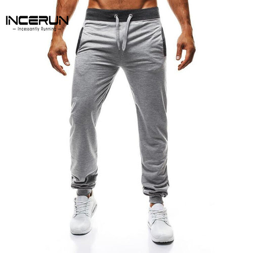 INCERUN 2018 Men's Joggers Pants Men Fitness Bodybuilding Gyms Pants For Runners Gyms Male Autumn Sweat Trousers Workout Pants