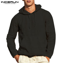 Load image into Gallery viewer, INCERUN Pullover Outwear Long Sleeve Men Hoodies Pullover Sweatshirts Plain Autumn Tops Hombre Fashion Hoody Button 3XL Jogger