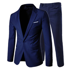 Load image into Gallery viewer, 2018/ men's fashion Slim suits men's business casual clothing groomsman three-piece suit Blazers jacket pants trousers vest sets