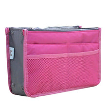 Load image into Gallery viewer, Organizer Insert Bag Women Nylon Travel Insert Organizer Handbag Purse Large liner Lady Makeup Cosmetic Bag Cheap Female Tote