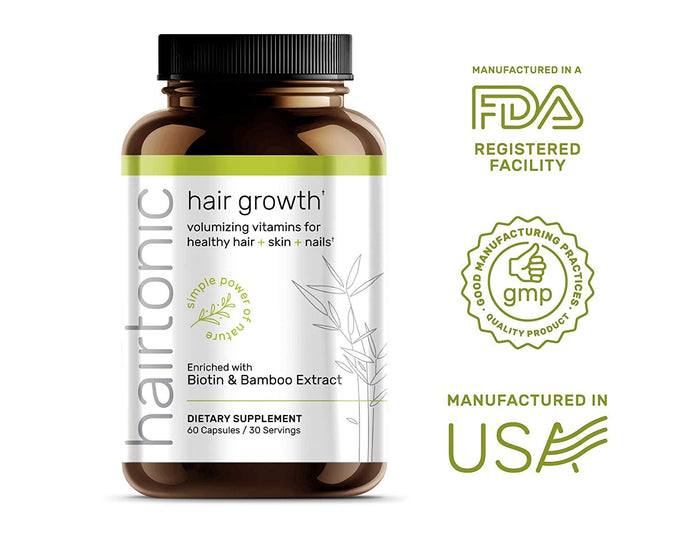 Hair Tonic - Hair Growth with Biotin, Keratin, Bamboo - 60 Capsules