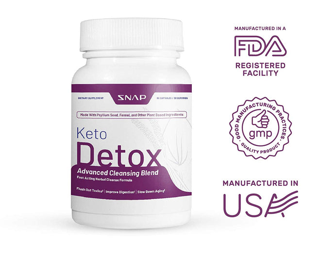 Keto Detox Advanced Cleansing Blend - Flushes Out Toxins, Slows Aging - 60 Capsules