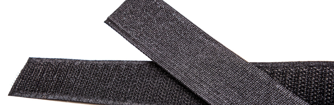 hook and loop velcro overlapped