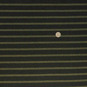 black with heather forest green stripe bamboo stretch jersey