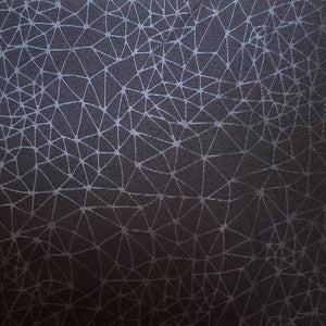embossed spider web chitosante interlock fabric