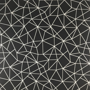 Black Shattered Glass Scuba Stretch Yoga Athletic Running Exercise Fabric