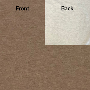 Bamboo fleece fabric in chocolate mix with a natural colour fleece back