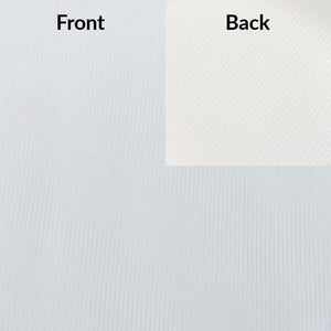 White Lightweight Power Dry Fabric front and back