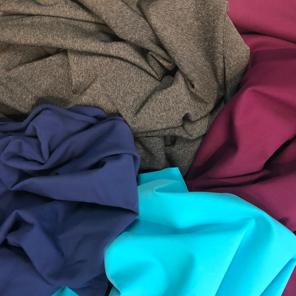 sample colours of  yoga stretch fabric