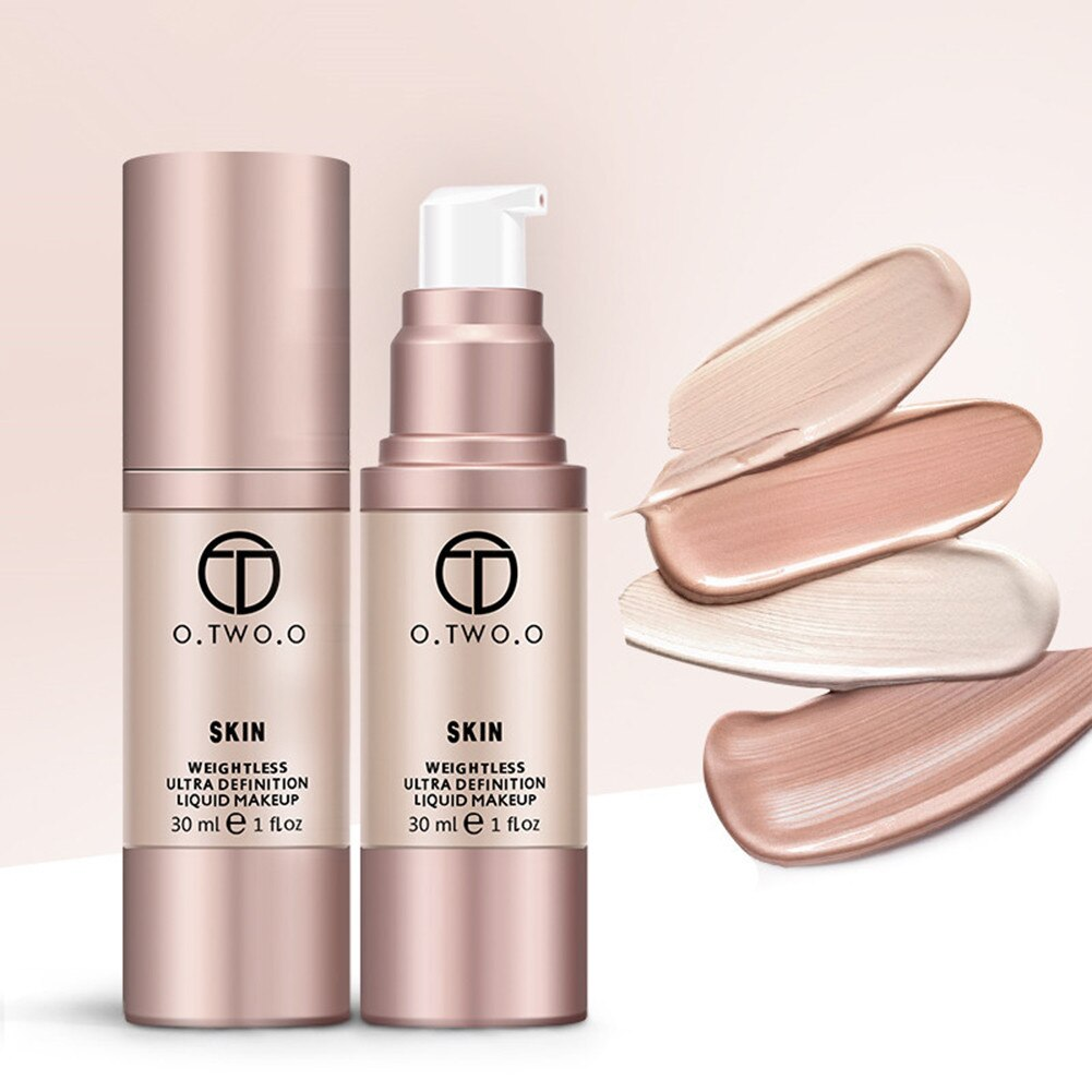 Liquid Foundation Cream Primer 4 Colors Flawless Full Coverage