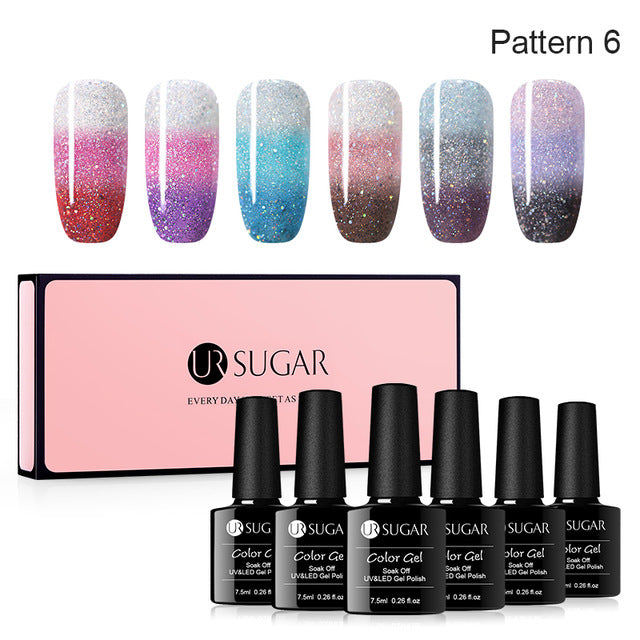 Magnetic UV Gel Nail Polish Color Changing